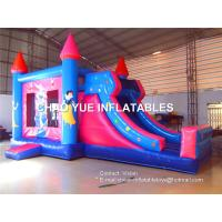 Buy cheap Princess Combo Slide Inflatable Bouncy Castle With Hand Printing And Silking Printing Logo from wholesalers
