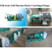 Buy cheap Full Fluorine Plastic Alloy Centrifugal Pump from wholesalers