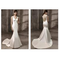 Fashionable Strapless Mermaid Dress / White Taffeta Mermaid Wedding Dress