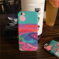 Buy cheap PC Colorful Landscape Painting Sunset River Egrets Cell Phone Case Cover For iPhone 7 6s Plus from wholesalers