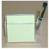 Buy cheap 3mm Acrylic Stationery Holder , PMMA Pen Display Stand With Memo Box product
