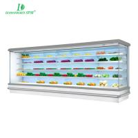 Buy cheap Commercial Vegetable Refrigerated Display Case Open Chiller Fan Cooling from wholesalers