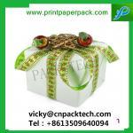 Buy cheap Bespoke Ribbon Shinny Garment Gift Packing Boxes Wedding Cake Box Gift Candy Packaging Box from wholesalers