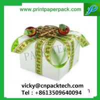 China Bespoke Ribbon Shinny Garment Gift Packing Boxes Wedding Cake Box Gift Candy Packaging Box on sale