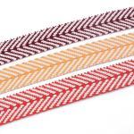 Buy cheap Multi Colors Thick Custom Jacquard Herringbone Webbing Tape 40mm from wholesalers