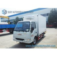Buy cheap Gasoline Engine 82 HP 4x2 Mini Refrigerated Box Truck Transport Ice Cream 1 T from wholesalers