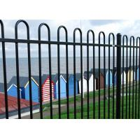 Buy cheap 2.4mL* 1.8mH Black Steel Fence For Home / School Beautiful Appearance from wholesalers