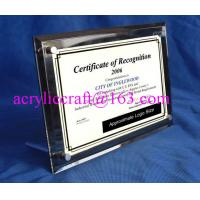Buy cheap Acrylic Table Top Menu / Photo / Picture Holder 4 X 6 With Set Screw from wholesalers