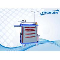 Buy cheap Five Drawers Medical ABS Emergency Trolley With CPR Board IV pole from wholesalers