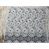 Buy cheap Eyelash Corded Lace Fabric White Floral / Nylon Rayon Heavy Lace Material from wholesalers