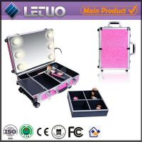Buy cheap LT-MCL0009 aluminum beauty makeup cosmetic case makeup case with light with mirror from wholesalers