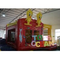 Buy cheap Yellow Bouncy Castle For Children / Inflatable Happy Hop Jumping Castle from wholesalers