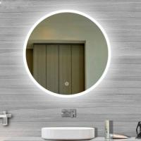 Buy cheap Usa Touch Sensor Switch Wall Makeup Mirror With Led Lights For Villa , Circular Led Mirror from wholesalers