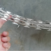 Buy cheap Stainless Steel Bto-22 Concertina Razor Blade Barbed Wire Coil from wholesalers