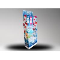 Buy cheap 4C Printing Corrugated Floor Bottles Display Stand , Beverages Paper Display from wholesalers