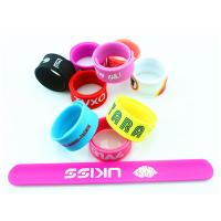 Buy cheap Anti Static Solid Color Slap Embossed Eco Friendly Dustproof Customized Silicone Bracelets from wholesalers