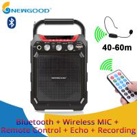 Buy cheap Remote Control Echo Recorder Amplifier Sound Speaker FM Radio Professional Audio Voice Portable Bluetooth Speaker from wholesalers