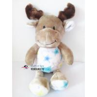 Buy cheap plush moose elk christmas animal good wishes stuffed toy children liked present new year hot loverly new sale soft pp from wholesalers