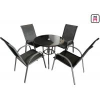Buy cheap Coffee Shop Outdoor Restaurant Tables Textilene Garden FurnitureWith Arm Chairs from wholesalers