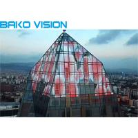 China HD High Transparency LED Display Screen Full Color Light Weight LED Glass Panel on sale