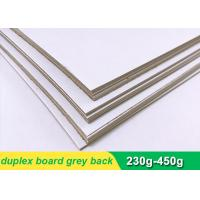 Buy cheap One side coated Duplex Paper Board with grey back 300g 700 * 1000mm from wholesalers