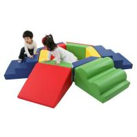 Customized Indoor Playground Products Colorful Soft Touch With Slope Slide