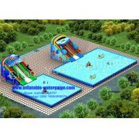 Buy cheap 1.0mm PVC Metal Frame Inflatable Aqua Park , Inflatable Kiddie Pool With Slide from wholesalers