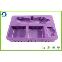 Buy cheap Beautiful Hairy Purple Flocking Tray PS Flocking 0.8mm For Beauty Instrument product