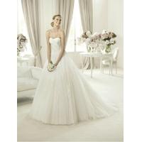 Buy cheap Modern Strapless Ball Gown Sweetheart Lace Wedding Dress for Summer , Spring from wholesalers