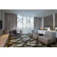 Fashion design of Apartment Hotel Room Natural Oak wood Bed and Lounge Bench
