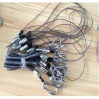 Heavy duty carabiner good strong stainless steel wire flexi coil lanyard for tool cable
