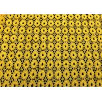 Buy cheap Yellow Round Pattern Designer Nylon Lace Fabric For Fashion Apparel from wholesalers