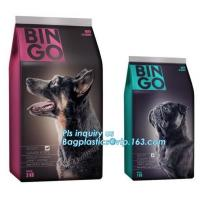 Buy cheap Stand up pouch with zipper and window for dog food packaging, chicken jerkey bag, 10kg Custom Printed slider Flat Bottom from wholesalers