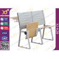 Buy cheap Metal And Plywood Structure School Desk Chair With Reading Pad For Lecture Room from wholesalers