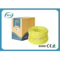Buy cheap Yellow Color Cat5e Lan Cable PVC Sheath 100MHZ Spectral Bandwidth 0.4mm / 0.45mm from wholesalers