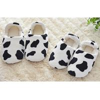Buy cheap Cow home / indoor / hotel coral Plush Slippers EN3-8.5 , bedroom slippers from wholesalers
