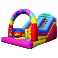 Buy cheap Colorful Big Party Teens Arch Large Inflatable Slide Digital Printing Fireproof from wholesalers