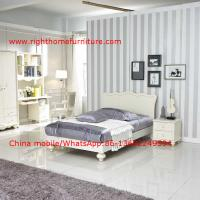Buy cheap Neoclassical design Single Bed Apartment Interior Furniture with Bookcase set and Small wardrobe product