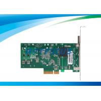 Buy cheap PCI Express Network Card Dual Ethernet Ports 32°F - 131°F Copper Connector from wholesalers