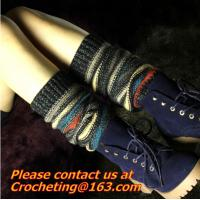 Buy cheap winter woods morning Leg warmers thick warm wool acrylic blend female loose socks boots from wholesalers