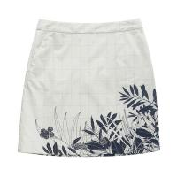 Buy cheap White Flower Print Ladies Casual Skirts / Summer Girls Short Skirt from wholesalers