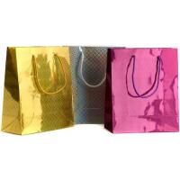 Buy cheap ECO Red and Yellow Paper Gift Bags Hot Transter Printing Customized for Packaging product