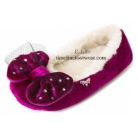Buy cheap Luxury slippers/ luxury ladies slippers/bow women slippers from wholesalers