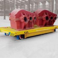 Buy cheap 25T conductor rail workshop use powered electric vehicle on rail from wholesalers