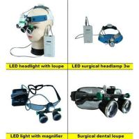 LED headlight with magnifier surgical dental loupes