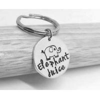 Buy cheap Cute Personalised Trolley Coin Keyring Elephant Shape , Metal Business Keyrings from wholesalers