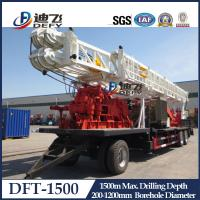 Buy cheap 1500m Depth DFT-1500 Truck Mounted Water Well Drilling Rigs for Hard Rock with Mud Pump from wholesalers