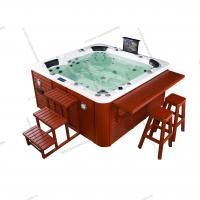 Buy cheap 4 Person 2 Seats 2 loungers massage bathtub with TV,pillow ,bubble ,whirlpool bathtub with jaccuzzi function from wholesalers
