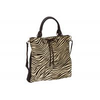 Buy cheap Black and White Zebra Print bags , Large Genuine Leather Tote Bag from wholesalers