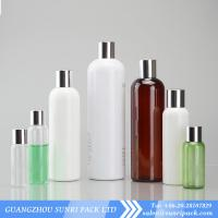 Buy cheap plastic shampoo bottle, cosmo round PET bottle with golden cap, shampoo bottles wholesale from wholesalers
